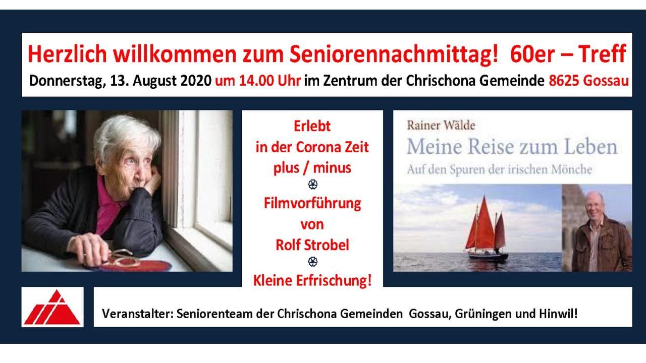 Einladung Seniorennachmittag 13.08.2020